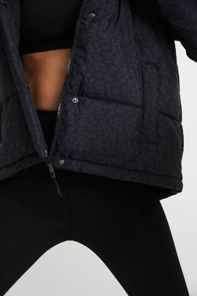The Recycled Mother Puffer Jacket, LUCKY LEOPARD