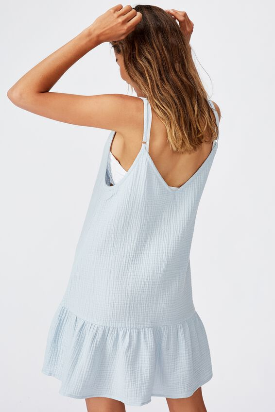 Drop Hem Beach Dress, SKY BLUE