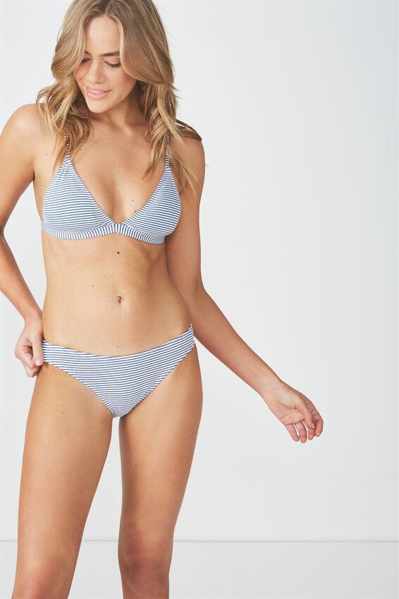 Harper Stripe Full Bikini Bottom, MARINA BLUE STRIPE