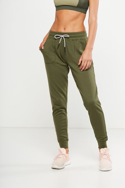 Gym Track Pants, OLIVE GREEN