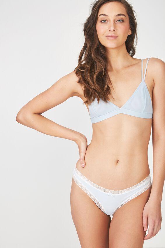 Cotton Rich Bikini Brief, COASTAL BLUE
