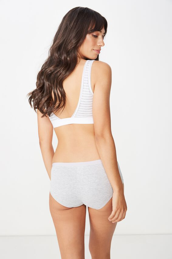 Cotton Rib Boyleg Brief, GREY MARLE