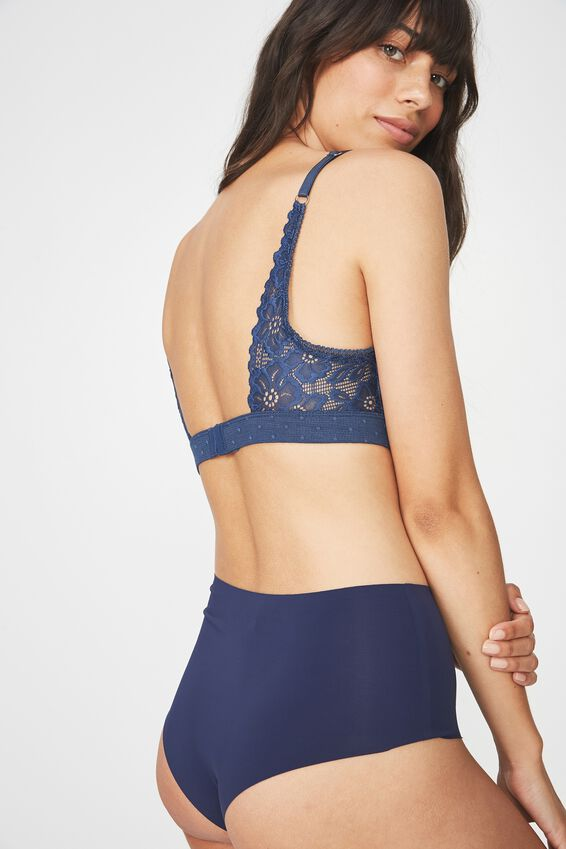 Stephanie Wirefree Bra, DARK STORM BLUE