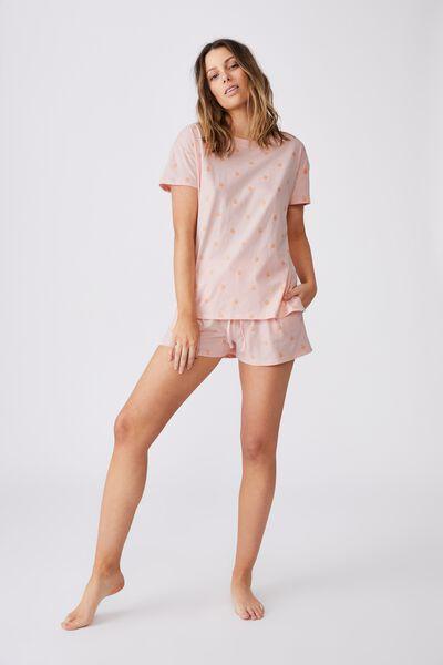Jersey Sleep T Shirt, ROSE WATER/PEACHY KEEN