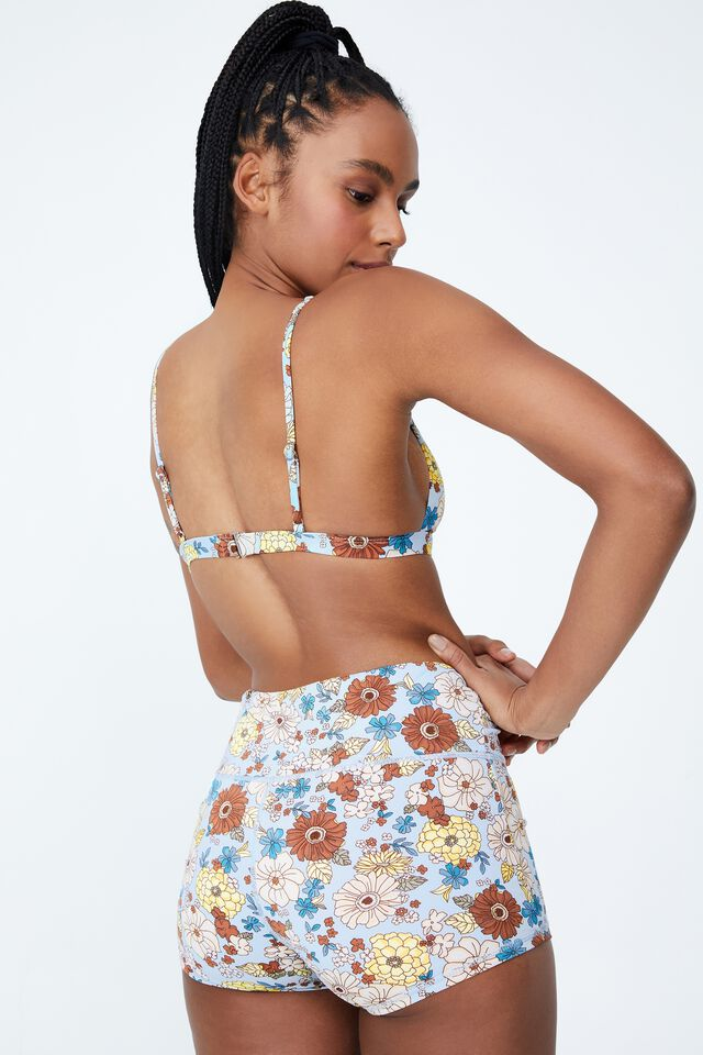 High Apex Fixed Triangle Bikini Top, RESORT FLORAL BLUES