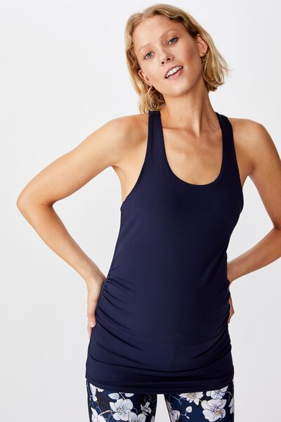 Maternity Fitted Tank Top, NAVY
