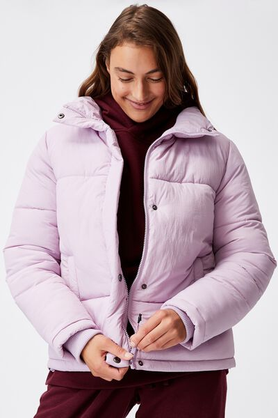 The Recycled Mother Puffer Jacket, DUSTY LILAC