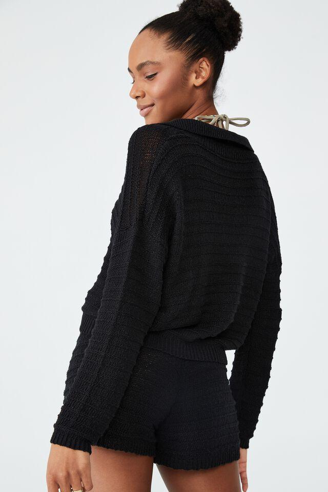 Summer Lounge Beach Knit, BLACK