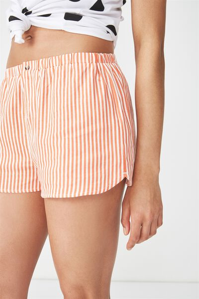 Woven Sleep Short, CANDY STRIPE/GLAZE ORANGE