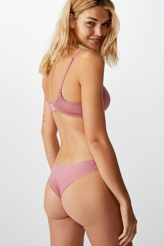 Party Pants Seamless Brasiliano Brief, WASHED ROSE