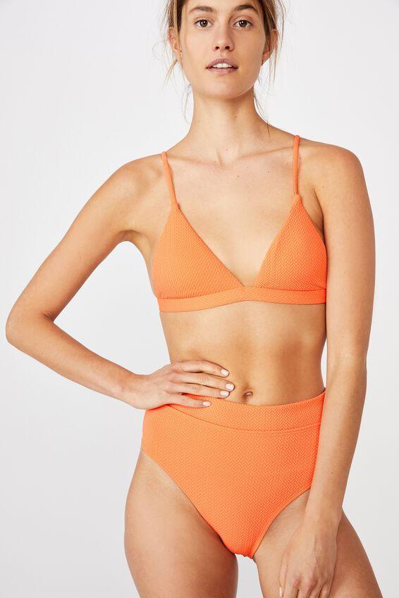 Fixed Triangle Bikini Top, PEACH TEXTURE