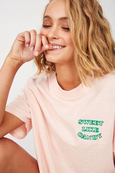 Jersey High Neck T-Shirt, CLOUD PINK/SWEET