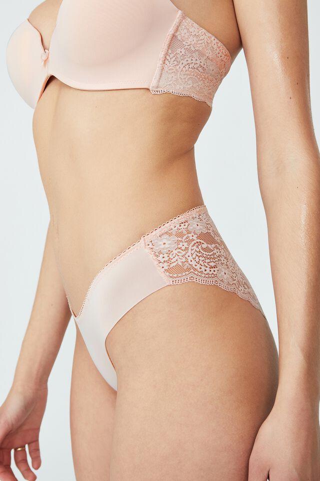 Ultimate Comfort Lace Bikini Brief, MARSHMELLOW PINK