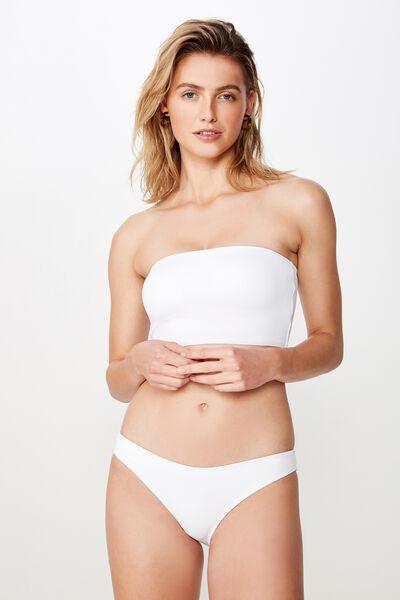 Classic Full Bikini Bottom, WHITE RIB