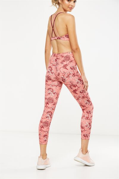 Recycled Highwaisted Yoga 7/8 Tight, IMPERIAL FLORAL DUSTY CLAY