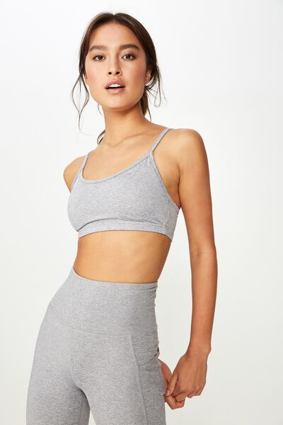Workout Yoga Crop, MID GREY MARLE