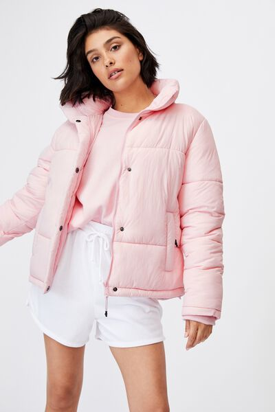The Recycled Mother Puffer Jacket, BALLERINA PINK
