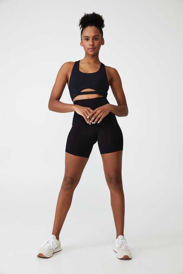 Highwaisted Yoga Bike Short, BLACK