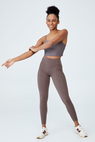 Highwaisted Yoga Full Length Tight, BROWNIE