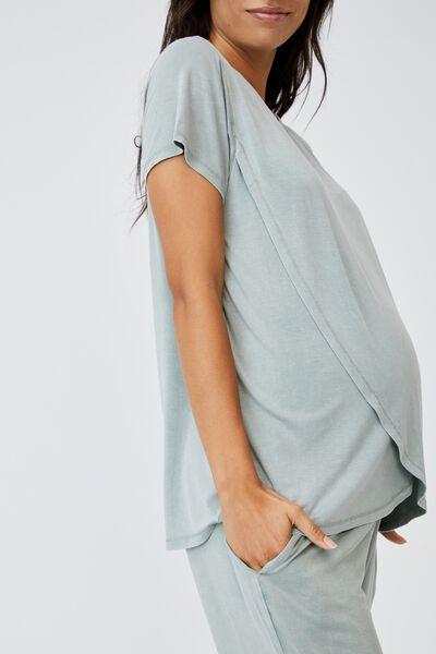 Sleep Recovery Maternity T Shirt, DESERT SAGE WASH