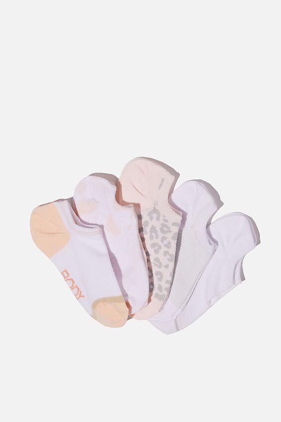 5Pk Body Low Cut Socks, FUNFETTI TIE DYE