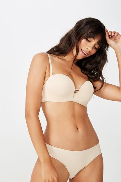 Sophia Lace Strapless Push Up 2 Bra, FRAPPE