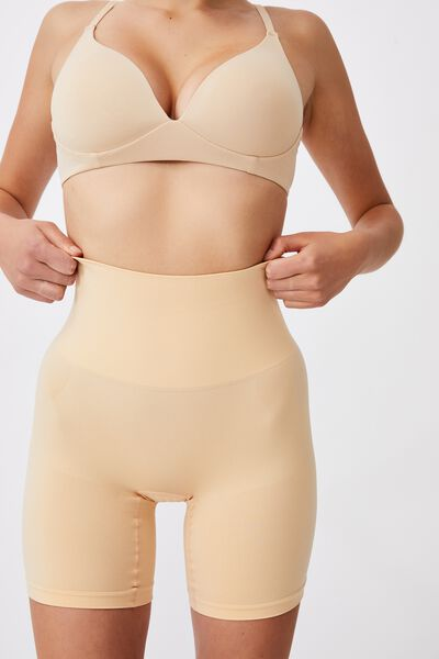 Smoother And Shaper High Waist Short, FRAPPE