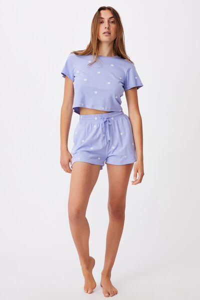 Baby Sleep T-Shirt, DAISY/CORNFLOWER BLUE