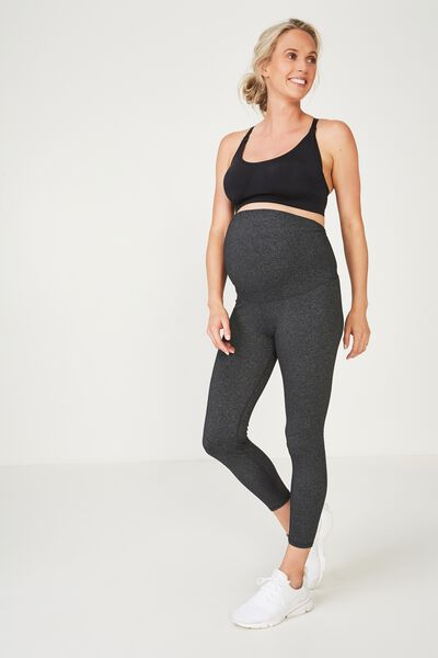 Maternity Core 7/8 Tight, CHARCOAL MARLE