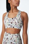 Lifestyle Cut Out Crop, 80S WASHED FLORAL BROWNS