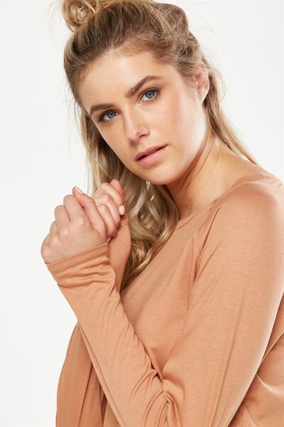 Back To School Long Sleeve Top, MAPLE
