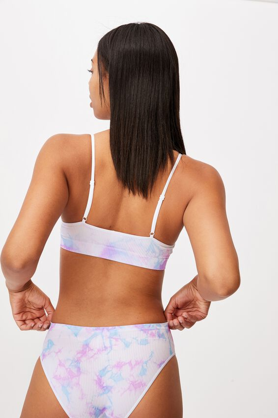 Seamfree Straight Neck Crop With Cups, TUTTI FRUTTI TIE DYE