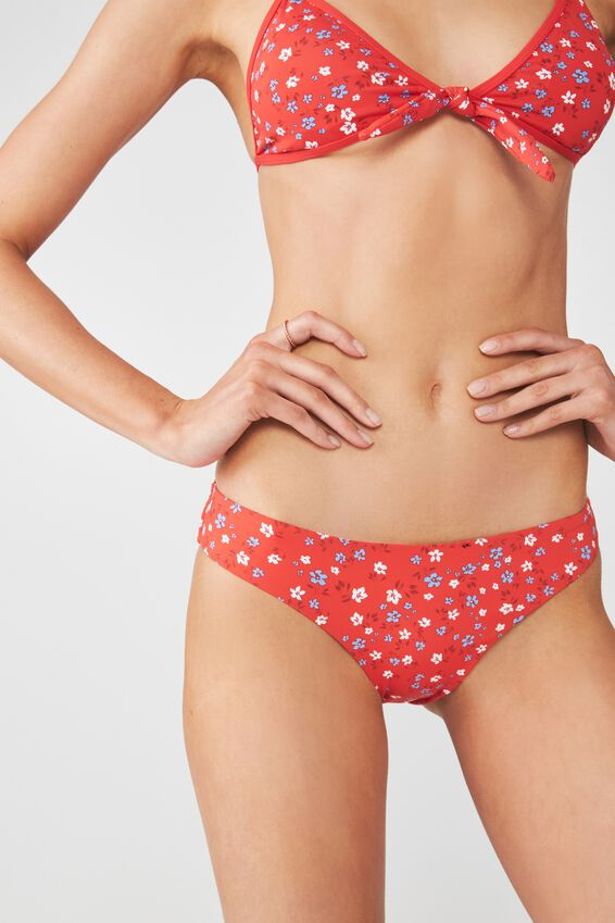 Selena Seamless Full Bikini Bottom, PAPRIKA KIKI DITSY FLORAL
