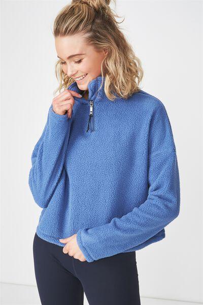 Sherpa Long Sleeve Top, MARINA BLUE