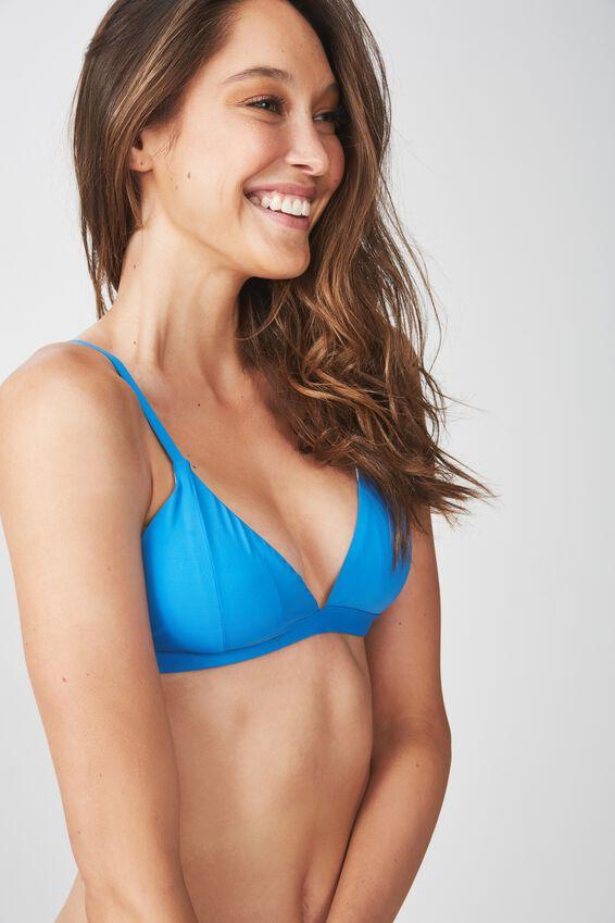 Fixed Triangle Bikini Top, SWEDISH BLUE