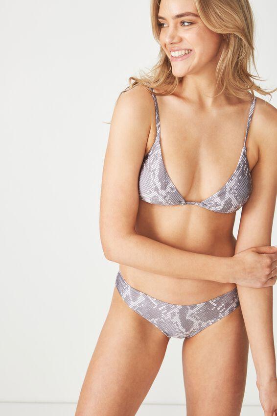 Tarni Slider Triangle Bikini Top, SNAKE