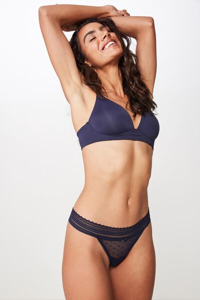Stephanie Mesh G-String Brief, MIDNIGHT