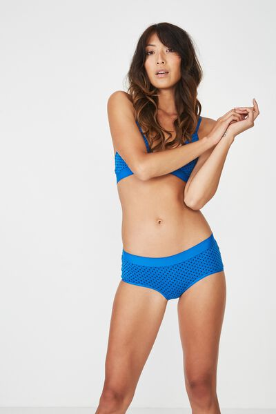 Sporty Femme Boyleg Brief, NAVY MINI SPOT
