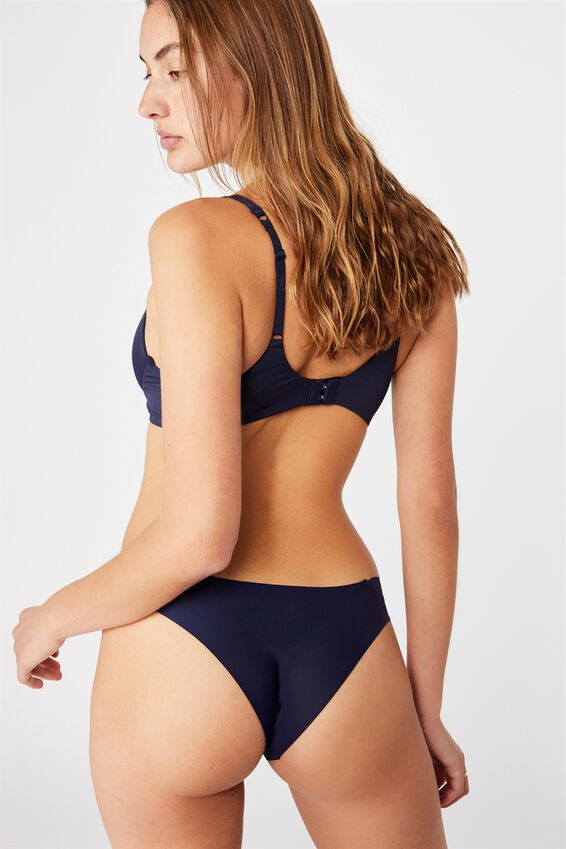 Party Pants Seamless Brasiliano Brief, MIDNIGHT