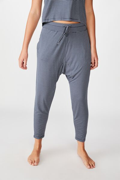 Sleep Recovery Drop Crotch Pant, THIN STRIPE IRON
