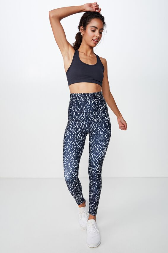 Workout Cardio Crop, ATLANTIC BLUE TEXTURE