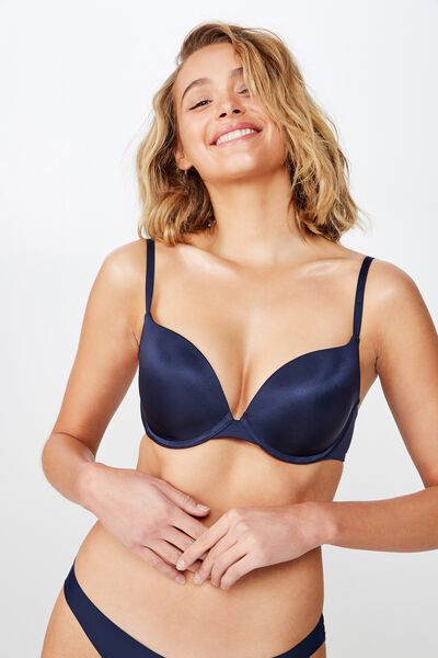 Ultimate Comfort Push Up Bra, INDIGO
