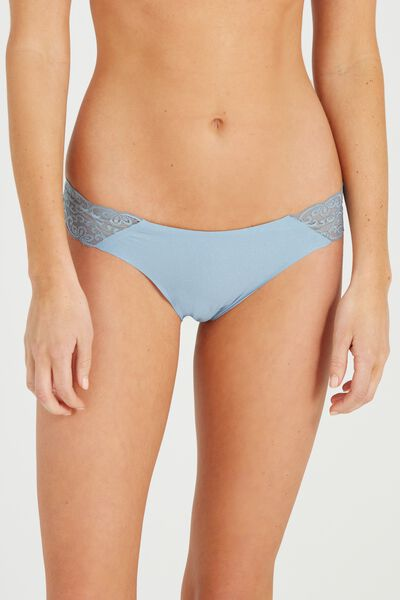 Party Pants Seamless Brasiliano Brief, BLUE EYES SHIMMER