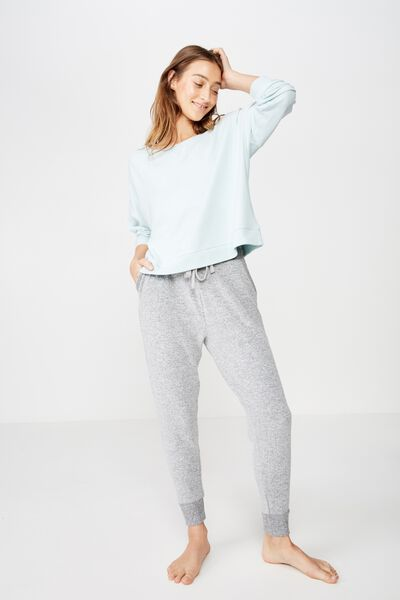 Supersoft Slouch Crew, BLUE CHALK MARLE