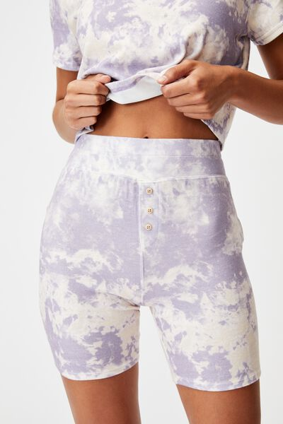 Super Soft Bike Short, MARBLE TIE DYE LILAC