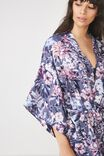 Kimono Gown, MISTED BLOOM/STORM BLUE