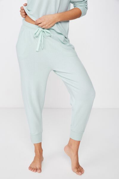 Supersoft Cropped Slim Fit Pant, BLUE CHALK MARLE