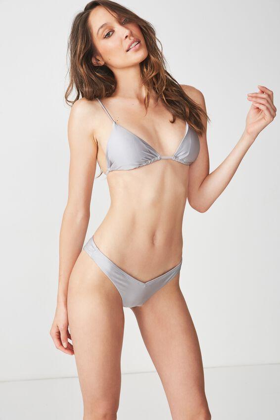 Tarni Slider Triangle Bikini Top, SILVER SHIMMER