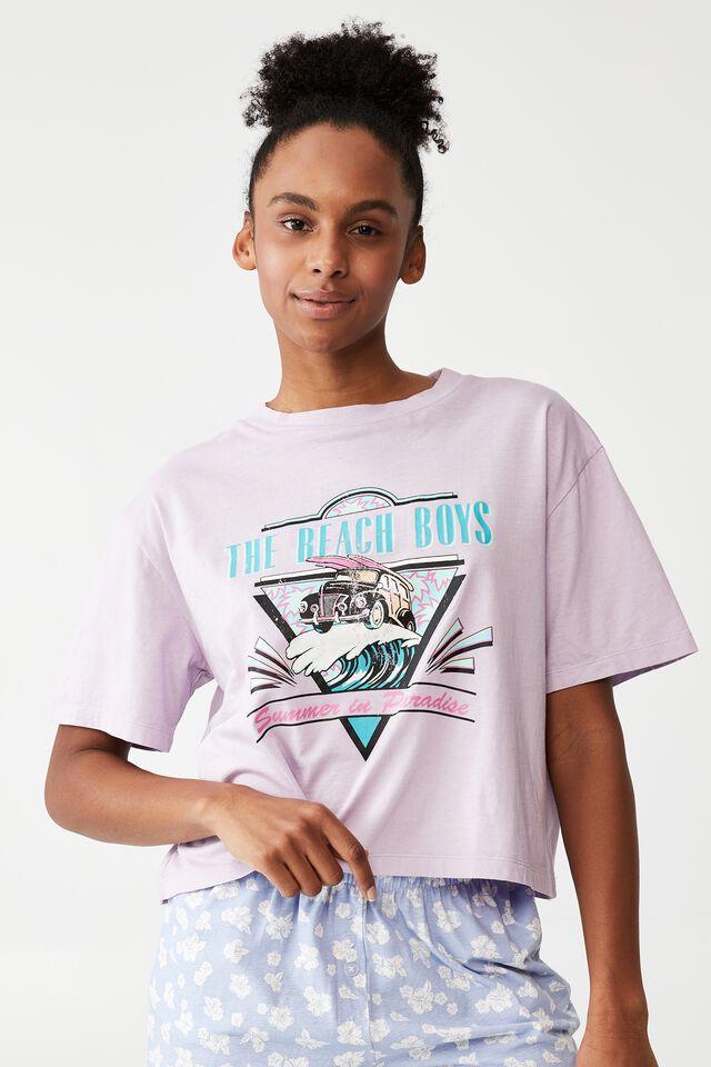 Jersey Chopped Baby T-Shirt, LCN BR BEACH BOYS/SUMMER SOFT GRAPE