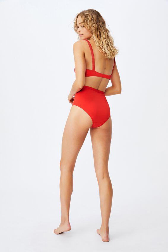 Boyshort Swim Bikini Bottom Mm, RED